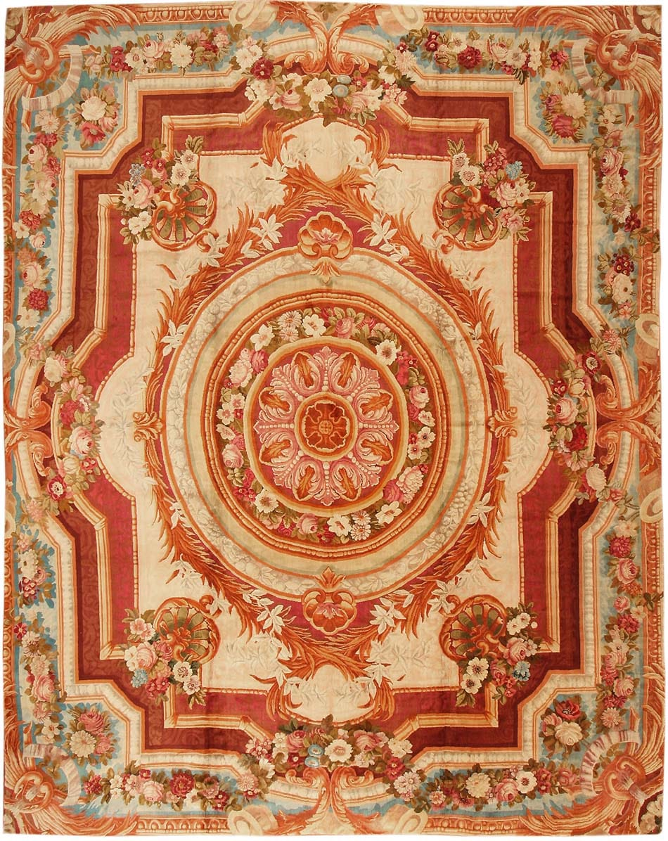 Antique English Axminster Rug 3437