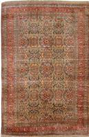 Antique Silk Heriz Serapi Persian Rugs 3087 Color Details - By Nazmiyal