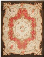 Antique Aubusson French Rug 43641 Color Details - By Nazmiyal
