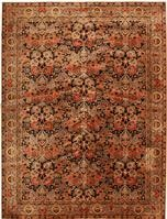 Antique Axminster English Rug 2442 Color Details - By Nazmiyal