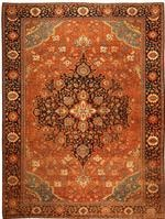 Antique Sarouk Farahan Persian Rug 43725 Color Details - By Nazmiyal