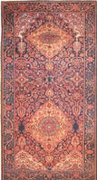 Antique Bakhtiari Persian Rug 2244 Color Details - By Nazmiyal