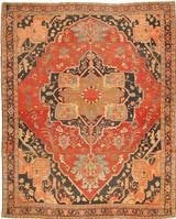 Antique Heriz Serapi Persian Rugs 2570 Color Details - By Nazmiyal