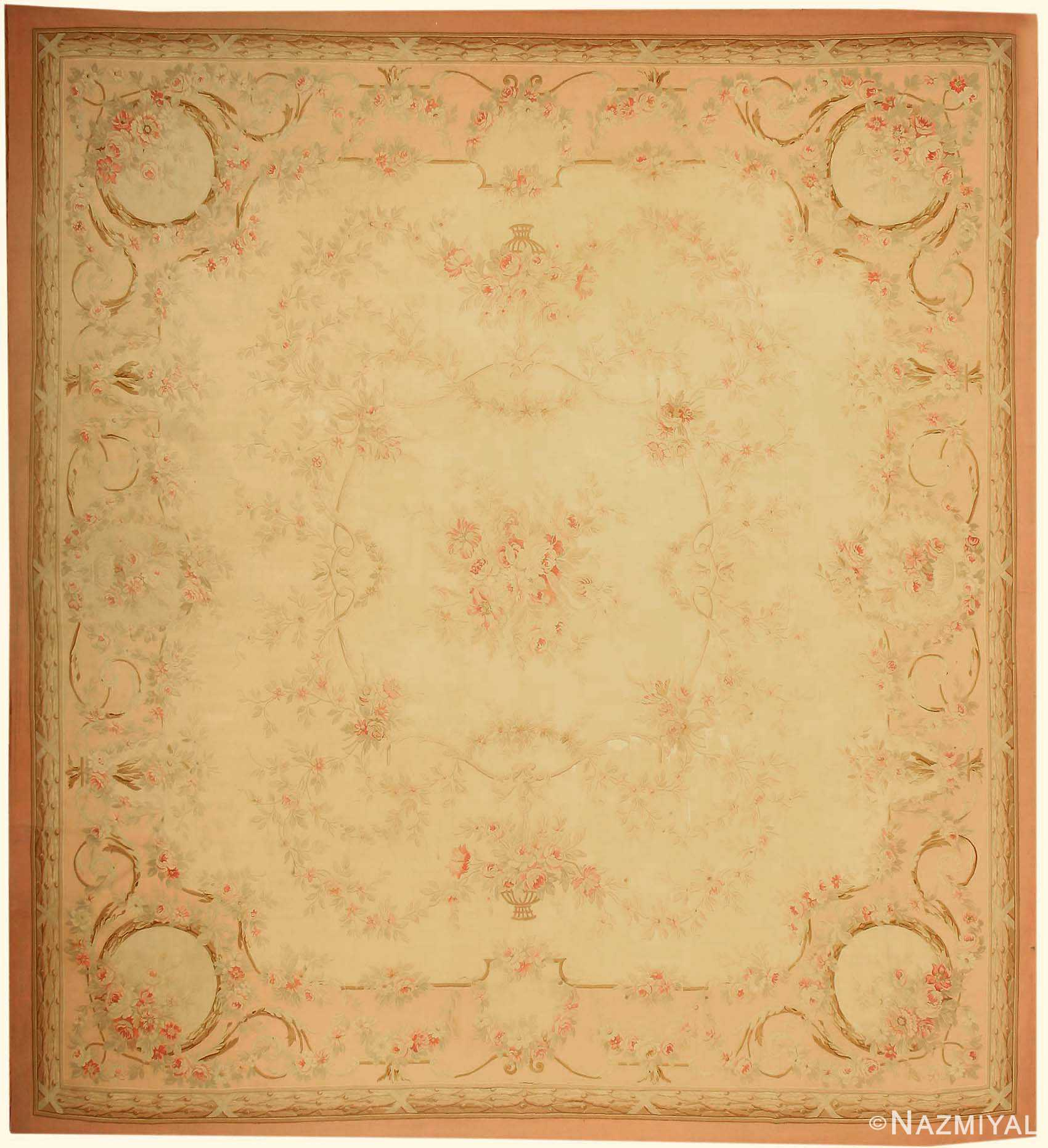 Antique French Aubusson Rug 43632