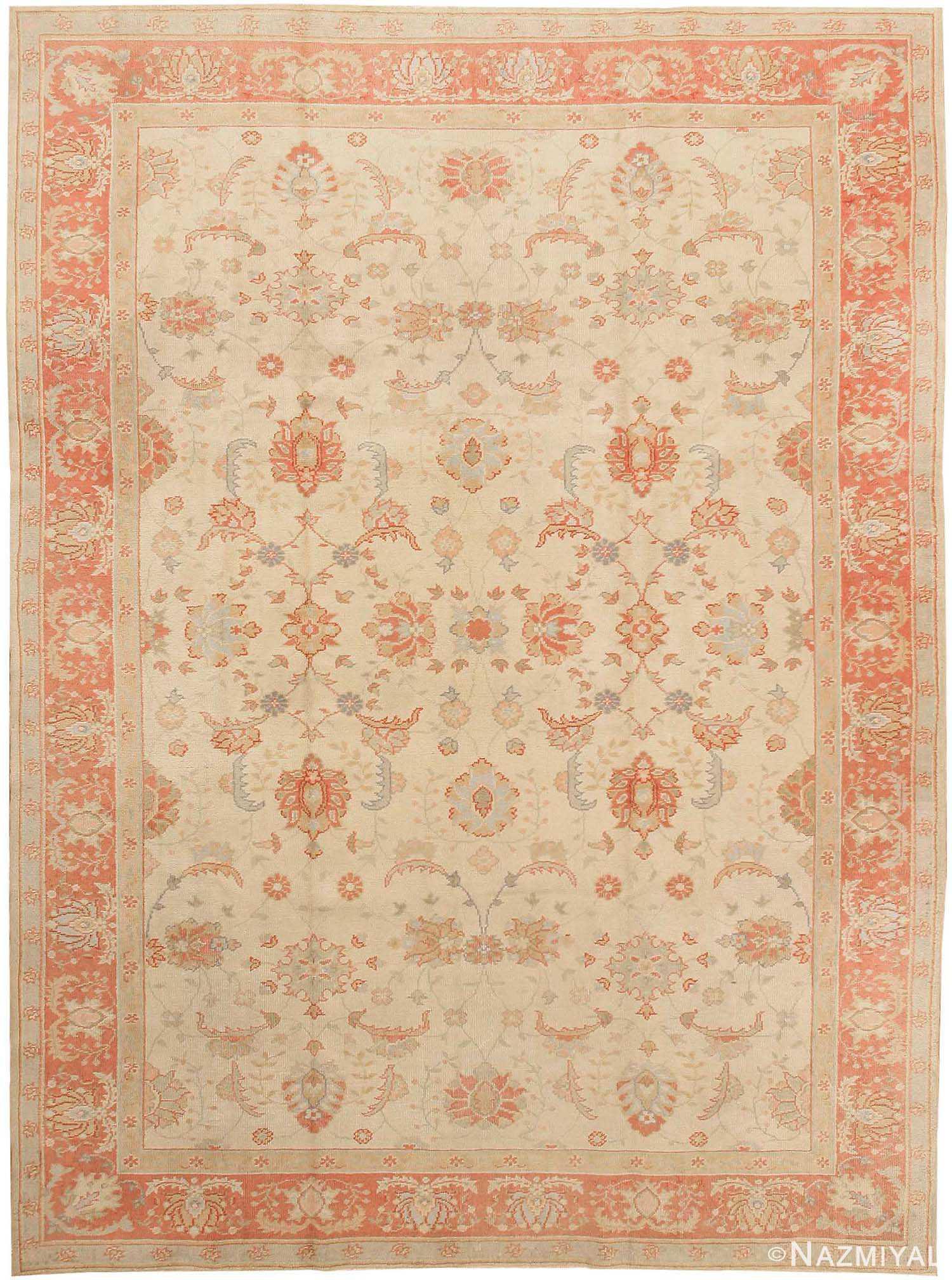 Oushak Rug Antique Turkish Carpet 43363 By Nazmiyal