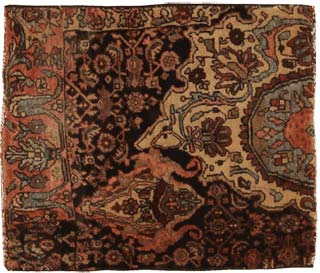 41680 Antique Bidjar Iran Rug Antique Persian Bakhtiari Carpet 46190