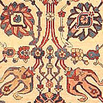 424803 Fine Antique Persian Kerman Tree of Life Design Carpet 47500