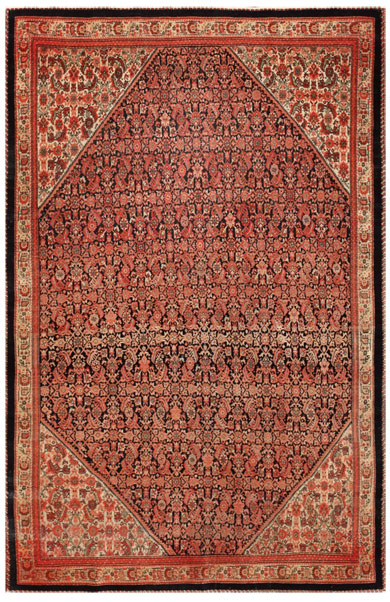 45026 Antique Sarouk Farahan Persia Rug Antique Farahan Persian Rugs 45026
