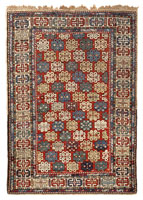 Antique Shirvan Caucasian Rug 45136 Color Details - By Nazmiyal