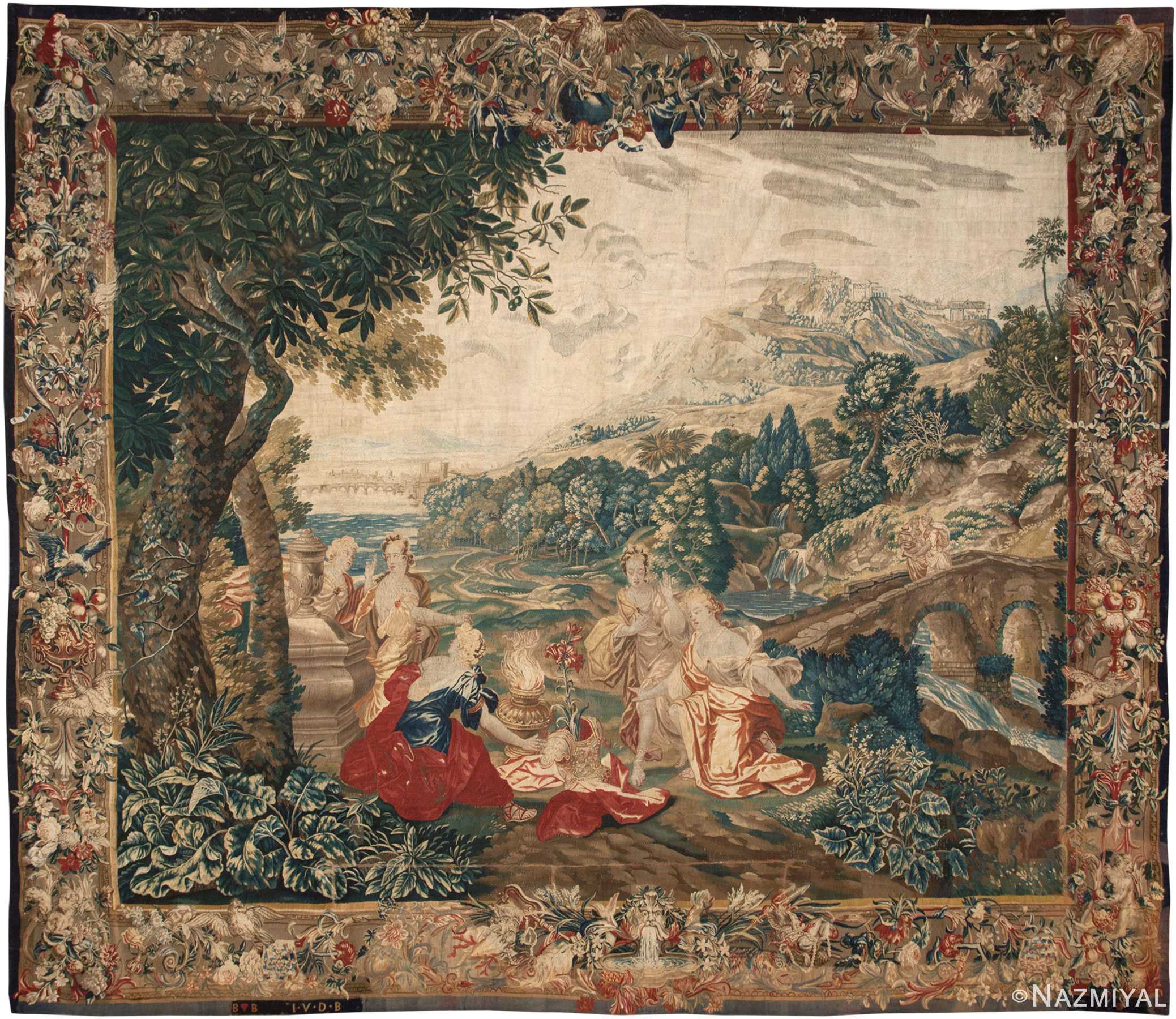 Antique 17th Century Flemish Tapestry Rug 45666 By Nazmiyal