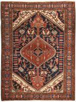 Antique Persian Heriz Rug 46393 Color Detail - By Nazmiyal