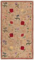 color 46417 Antique Hooked American Rug 2446