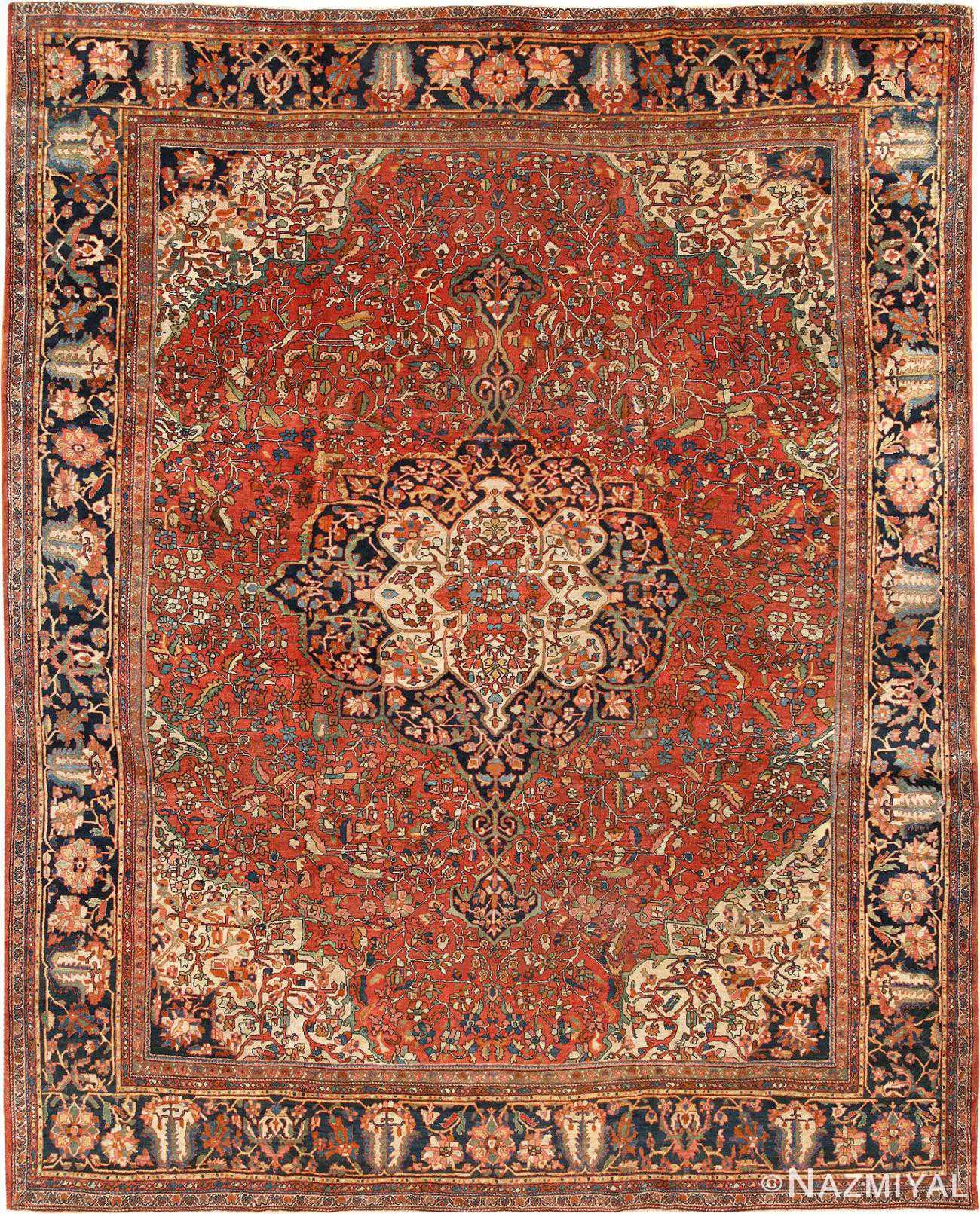 Antique Persian Sarouk Farahan Rug 44130  Namiyal