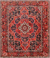 Antique Persian Bakhtiari Rug 46840 Nazmiyal - By Nazmiyal