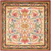 antique spanish savonnerie rug 46823 color Antique Spanish Savonnerie Rug 46823