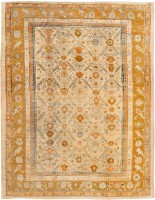 antique angora oushak rug 46961 color Antique Ivory Background Oushak Carpet From Turkey 47443