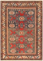 Antique Shirvan Caucasian Rug 47120 Color Detail - By Nazmiyal