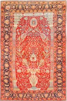 Antique Mohtashem Kashan Carpet 47023 Color Detail - By Nazmiyal