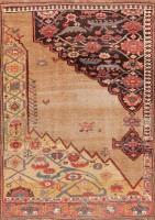 antique persian bidjar sampler wagireh rug 47378 color Antique Bidjar Persian Sampler Rug 47377