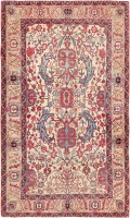 antique persian kerman rug 47396 color Antique Persian Kerman Rug 47396