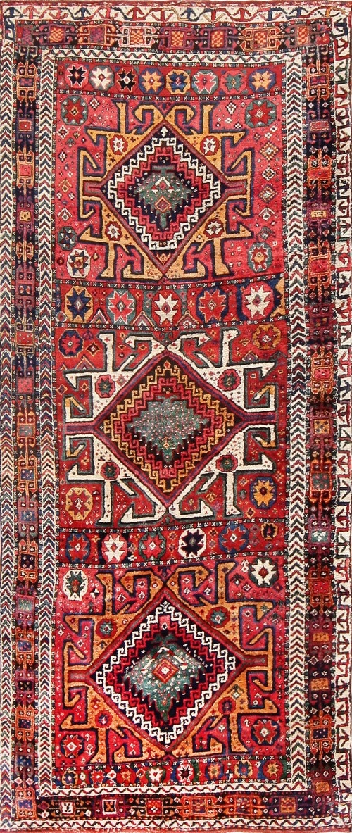 Antique Eagle Persian Kurdish Rug Kurd Carpet 47471 By