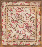 Antique French Aubusson Carpet 47526 Color Detail - By Nazmiyal