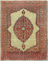 Beautiful Antique Persian Tabriz Scatter Size Rug 47502 Color Detail - By Nazmiyal