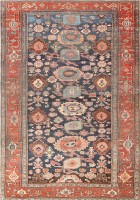 Tribal Blue Background All Over Design Persian Bidjar Rug 47490 Color Detail - By Nazmiyal