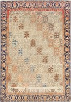 Antique Persian Mohtashem Kashan Carpet 47483 Color Detail - By Nazmiyal