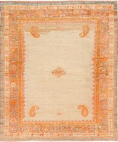 Decorative Antique Turkish Angora Oushak Rug 47695 Color Detail - By Nazmiyal