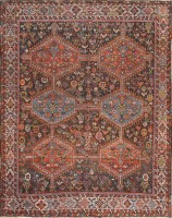 Antique Tribal Afshar Persian Rug 47579 Color Detail - By Nazmiyal