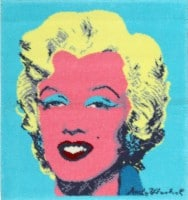 Andy Warhol Rug with Marilyn Monroe #48012 Color Detail - By Nazmiyal