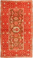 Antique Agra Oriental Rug 3398 Color Detail - By Nazmiyal