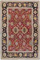 Antique Agra Oriental Rug 44380 Color Detail - By Nazmiyal