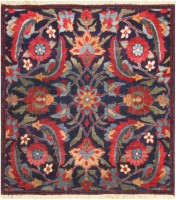 Antique Persian Kerman Rug #47986 Color Detail - By Nazmiyal