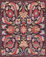 Small Antique Persian Kerman Rug 47983 Color Detail - By Nazmiyal