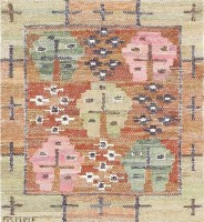 Vintage Swedish Kilim by Marta Maas 47584 Color Detail - By Nazmiyal