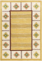 Vintage Swedish Kilim Rug by Ida Rydelius 48046 Color Detail - By Nazmiyal