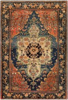 Anique Persian Faharan Sarouk Rug 48101 Color Detail - By Nazmiyal