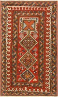 Antique Caucasian Shirvan Rug 47450 Color Detail - By Nazmiyal