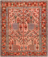 Antique Persian Bakshaish Carpet 47478 Color Detail - By Nazmiyal