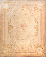 Antique Savonnerie  European Rug 43688 Color Detail - By Nazmiyal