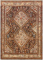 Antique Ghashgai Persian Rug 47540 Color Detail - By Nazmiyal