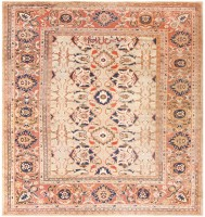 Antique Persian Sultanabad Carpet by Ziegler 48150 Color Detail - By Nazmiyal
